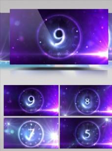 夢幻藍色圓圈倒計時視頻素材