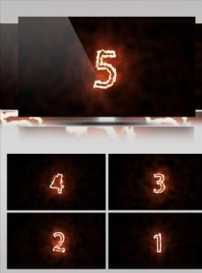 火焰動感震撼倒計時視頻素材