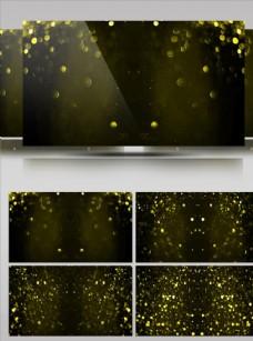 金色離子灑落舞臺背景視頻素材