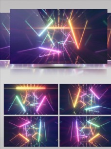 多彩絢麗舞臺屏幕視頻素材