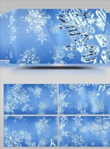 冬季雪花飄落大屏幕視頻素材