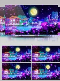 中秋明月意境大氣舞臺背景