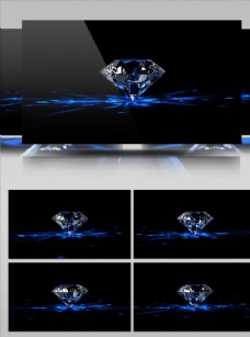 黑底藍色鉆石旋轉炫酷視頻