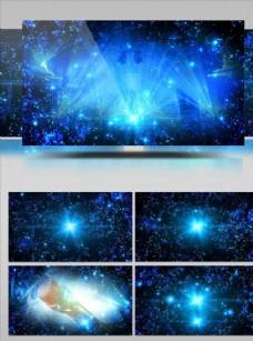 藍色絢麗夢幻大屏幕視頻素材