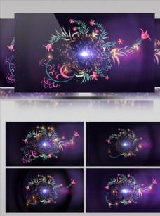 紫色大氣花朵盛開視頻素材