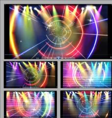 絢麗大氣光束線條舞臺背景視頻
