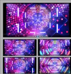 五彩斑斕光束舞臺背景視頻素材