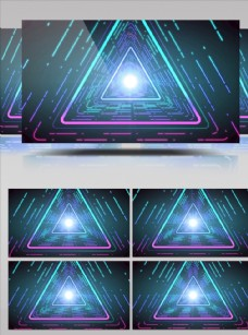 三角幾何圖形光束移動視頻素材