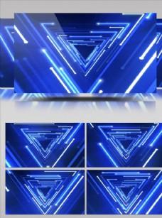 藍色光束流動大屏幕視頻素材