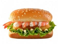 鮮蝦雞肉漢堡