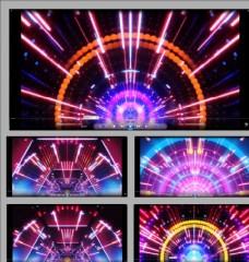 絢麗五彩線條飛逝舞臺背景視頻