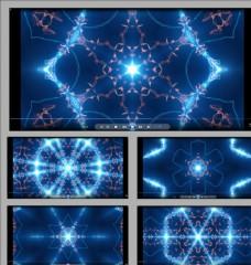 藍色絢麗星光變異視頻素材