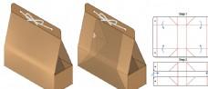 手提包裝盒刀模圖