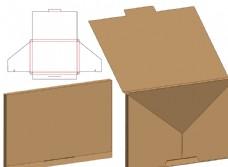 信封式包裝盒刀模圖