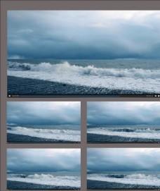 航拍海浪起伏视频