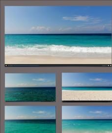 蔚蓝海面航拍