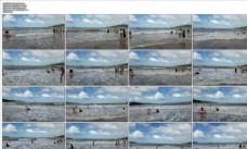 衢山岛沙龙沙滩 视频素材 4K