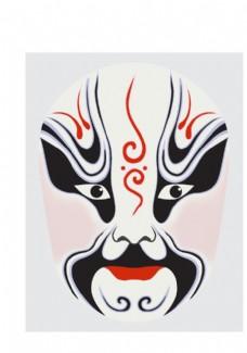 中國風傳統京劇臉譜