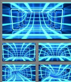 线条穿越时空隧道动画