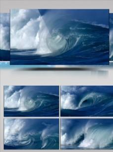大海海浪浪花汹涌澎湃