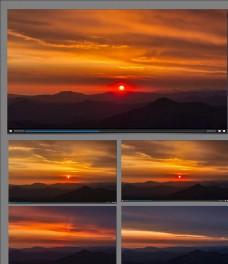 远山日落延时视频素材