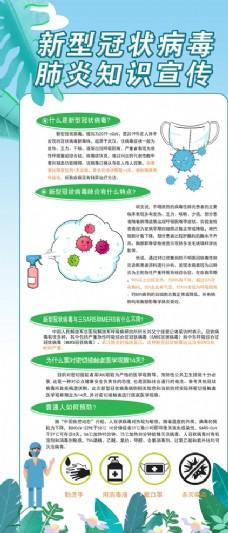 預防冠狀肺炎知識宣傳展架
