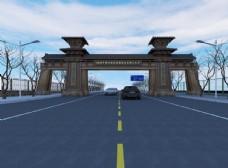 秦汉古建筑模型