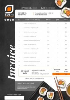 寿司店菜单模板