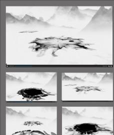 中國風水墨背景視頻素材