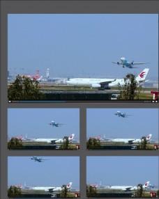 機場飛機起飛視頻素材