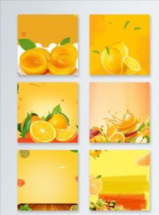 橙色夏末促销直通车主图背景