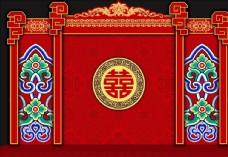 红色婚礼中式展区