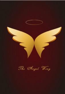 天使翅膀 金屬翅膀 矢量圖