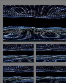 粒子波浪舞臺背景視頻素材