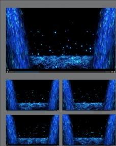 藍色粒子瀑布動畫