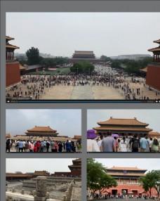 北京故宮游客視頻素材