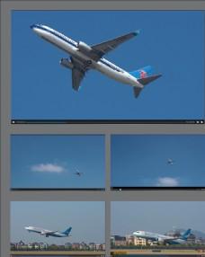 機場飛機起飛視頻合集