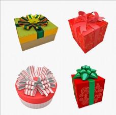礼物包装盒C4D模型