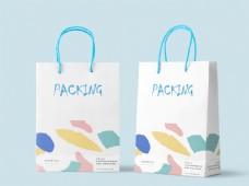 企业手提袋样机设计效果图