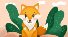 狐貍卡通插畫