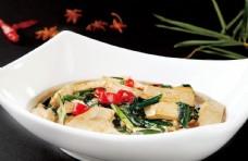 韭菜燜豆腐