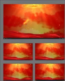 紅色背景動畫素材