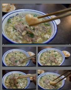 中華美食羊肉泡饃視頻拍攝