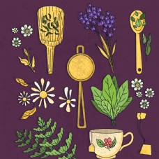 创意 花卉和花茶