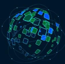 未来科技地球网络背景