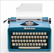 打字机卡通素材摩斯密码机器