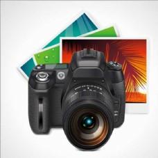 照相机数码相机卡通设计素材背景
