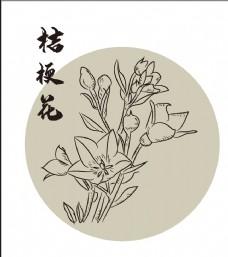 手繪桔梗花