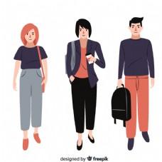 3个时尚 大学生设计