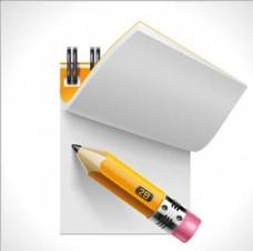 翻开的本子记事本卡通素材设计